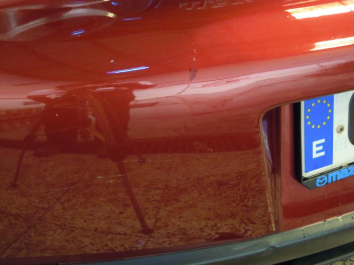 reparacion arañazo Malaga  Mazda despues